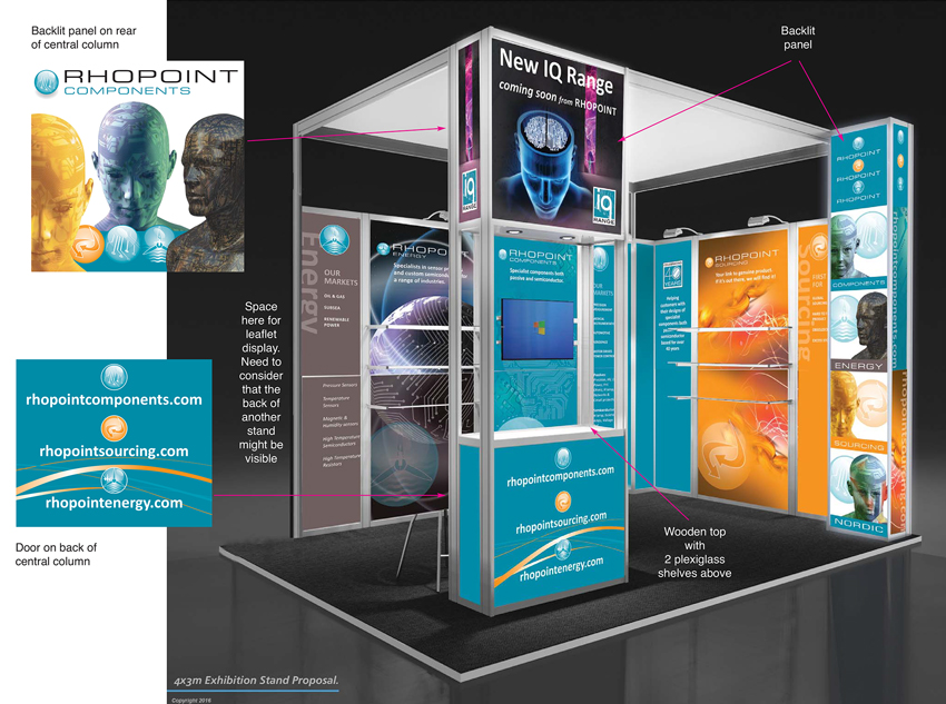 Exhibition Stand Visuals : Rhopoint components show stand visuals kf d creative